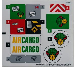 LEGO Sticker Sheet for Set 60101 (24546 / 24551)