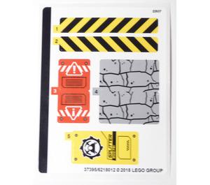 LEGO Sticker Sheet for Set 60185 (37395)