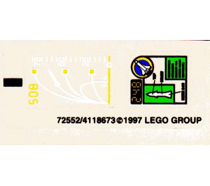 LEGO Sticker Sheet for Set 6452 (72552)