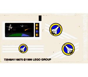 LEGO Sticker Sheet for Set 6453 (72548)