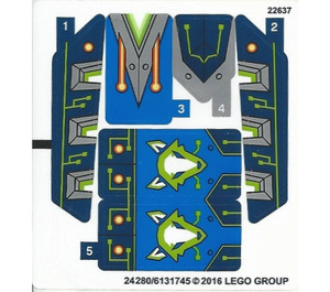 LEGO Sticker Sheet for Set 70320 (24280)