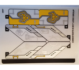 LEGO Sticker Sheet for Set 70354 (33990)