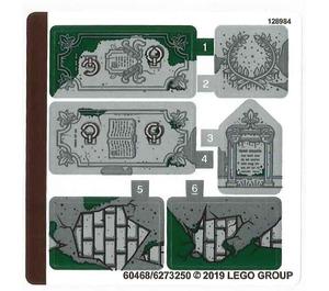 LEGO Sticker Sheet for Set 70420 (60468)