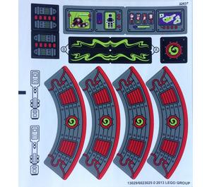LEGO Sticker Sheet for Set 70504 (13029)
