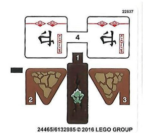 LEGO Sticker Sheet for Set 70599 (24465)
