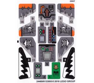 LEGO Sticker Sheet for Set 70601 (24469 / 24470)