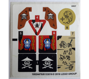 LEGO Sticker Sheet for Set 70604 (24476 / 24477)