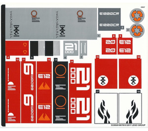 LEGO Sticker Sheet for Set 70615 (33395)