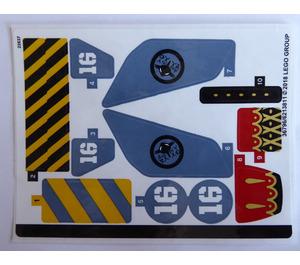 LEGO Sticker Sheet for Set 70629 (36796)
