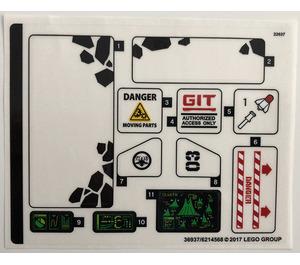 LEGO Sticker Sheet for Set 70631 (36937)
