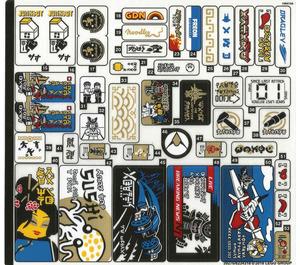 LEGO Sticker Sheet for Set 70657 (39276)