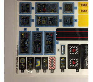 LEGO Sticker Sheet for Set 70909 (31818)