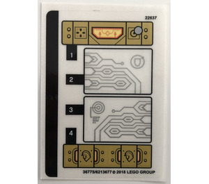 LEGO Sticker Sheet for Set 72001 (36775)