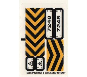 LEGO Sticker Sheet for Set 7248 (53050)