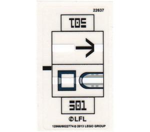 LEGO Sticker Sheet for Set 75002 (12966)
