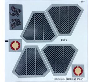 LEGO Sticker Sheet for Set 75038 (16334)