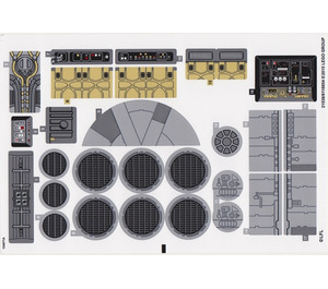 LEGO Sticker Sheet for Set 75105 (21537 / 21538)