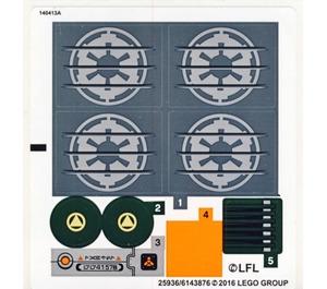 LEGO Sticker Sheet for Set 75141 (25936 / 25937)