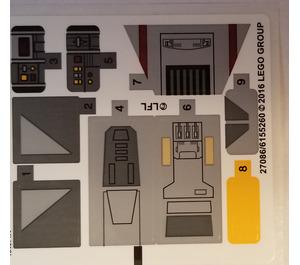 LEGO Sticker Sheet for Set 75158 (27086)