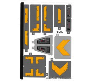 LEGO Sticker Sheet for Set 75171 (30912)