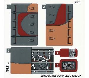 LEGO Sticker Sheet for Set 75173 (30962)