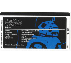 LEGO Sticker Sheet for Set 75187 (35567)