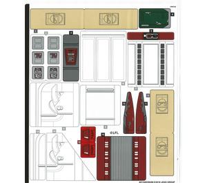 LEGO Sticker Sheet for Set 75222 (40116)