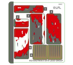 LEGO Sticker Sheet for Set 75250 (65218)