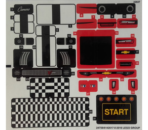 LEGO Sticker Sheet for Set 75874 (24758 / 24759)