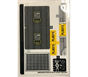 LEGO Sticker Sheet for Set 75933 (38830)