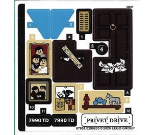 LEGO Sticker Sheet for Set 75968 (67851)