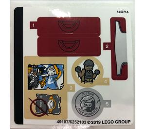 LEGO Sticker Sheet for Set 75972 (49107)