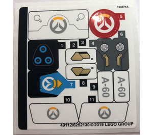 LEGO Sticker Sheet for Set 75975 (49112)
