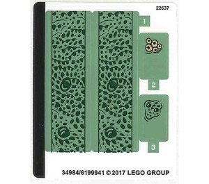 LEGO Sticker Sheet for Set 76085 (34984)