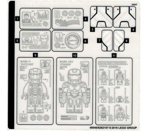 LEGO Sticker Sheet for Set 76125 (49540)