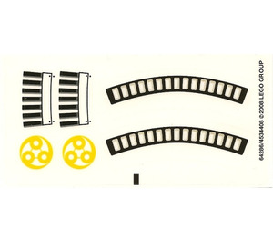 LEGO Sticker Sheet for Set 7678 (64286)