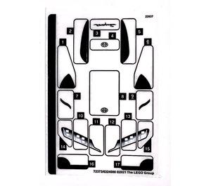LEGO Sticker Sheet for Set 76901 (72373)