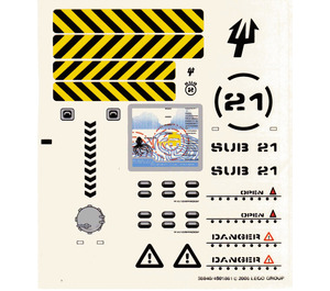 LEGO Sticker Sheet for Set 7774 / 7775 (58840)