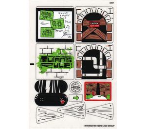 LEGO Sticker Sheet for Set 79103 (13056)