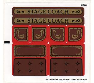 LEGO Sticker Sheet for Set 79108 (14143)