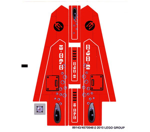 LEGO Sticker Sheet for Set 8060 (89143)
