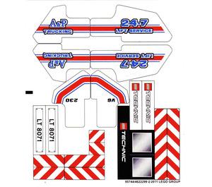 LEGO Sticker Sheet for Set 8071 (95744)