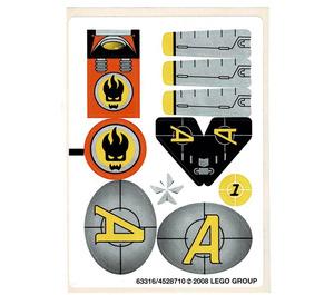 LEGO Sticker Sheet for Set 8631 (63316)