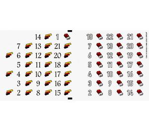 LEGO Sticker Sheet for Set 880002-1 (72951)