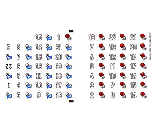 LEGO Sticker Sheet for Set 880002-3 (22094)