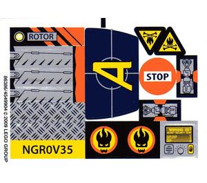LEGO Sticker Sheet for Set 8969 (86386)
