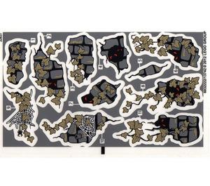 LEGO Sticker Sheet for Set 9468 / Dark Tan Leaves (13742)