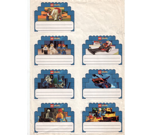 LEGO Sticker Sheet with 8 Labels 'System'