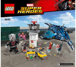 LEGO Super Hero Airport Battle Set 76051 Instructions