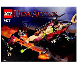 LEGO T-1 Typhoon vs. T-Rex Set 7477 Instructions